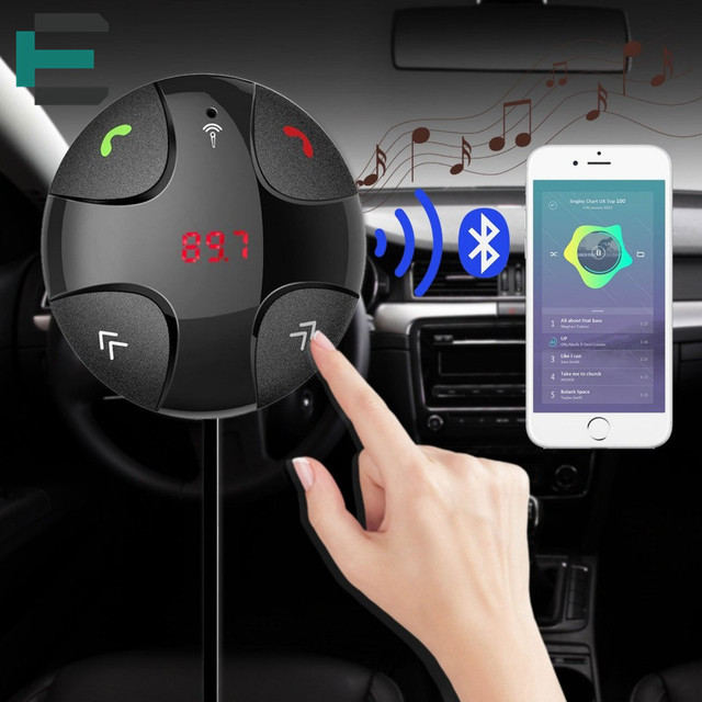 Kit Carro NFC Receptor de Áudio Bluetooth 3.0 + EDR Handsfree Stereo Música Aux com 3.1A Dual USB Car Charger suporte TF Mp3 player
