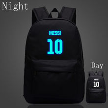 2017 Fashion Night Luminous Backpacks Messi Backpacks Student s Backpack  School Bag For Teenagers Best Birthday Gifts Travel Bag a64c89b04714a