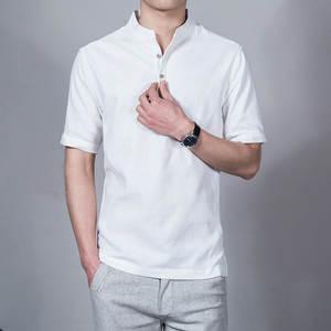 SexeMara 2018 Design Short Sleeve Mens Slim Male Shirt 2fb352c27e0