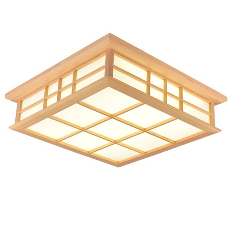Us 53 1 10 Off Ceiling Lights Anese Style Lamp Led Solid Wood Lighting Fixture Tatami Living Room Bedroom Lamps In