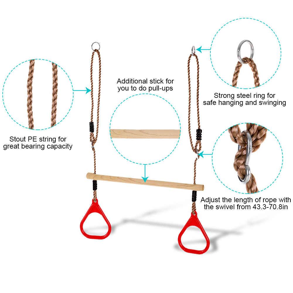 Детская одежда для детей; из дерева деревянные гимнастические кольца упражнения тренировки кольцо площадка садовая игрушка домашнее оборудование для фитнеса