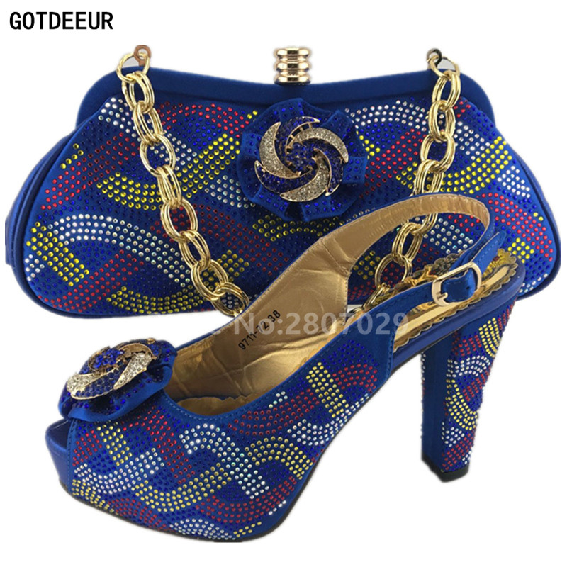 Con Azul La Azul Zapatos verde Partes Nuevos De Africanos A Conjuntos Llegada Matching Señoras Set Color Juego Bolsas Y Bolsos Bolsa Italiano xOxRSPq