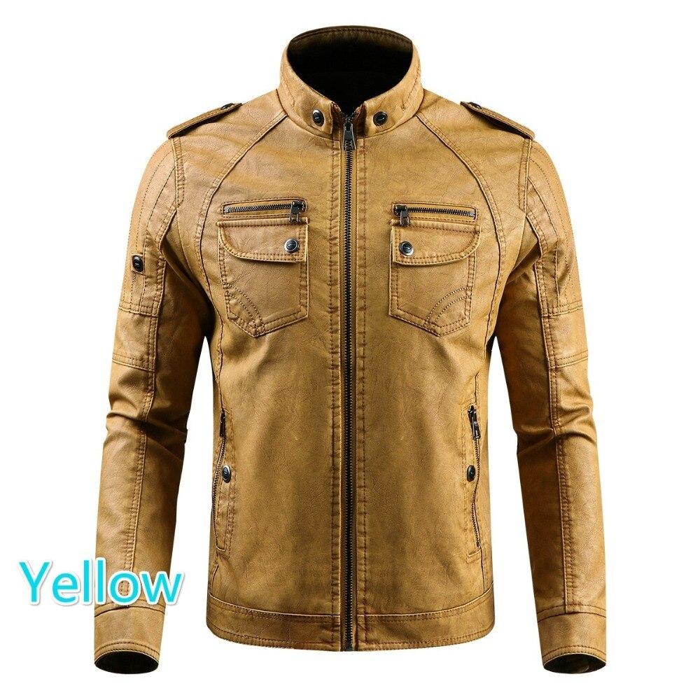 HTB12dJShmzqK1RjSZFjq6zlCFXaC Men PU Leather Jacket 2019 New Autumn Winter Men's Thick Casual Warm Stand Collar Zipper Coats Male Fashion Motorcycle Jackets