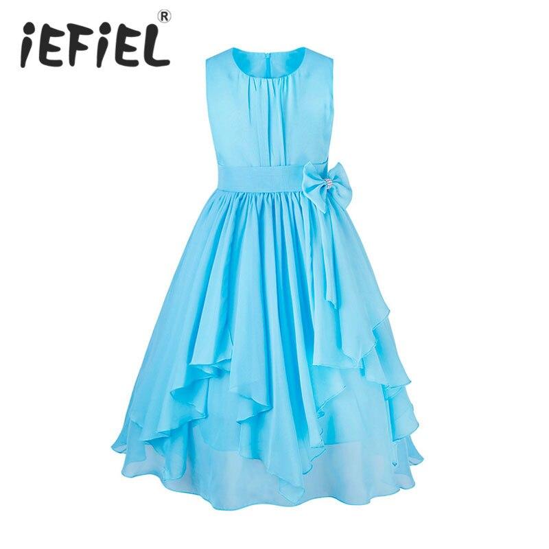 3a8cf6fa US $14.53 37% OFF|2 do 13 lat dziewczyny ubrania dziewczyna sukienka  fioletowy niebieski czerwona sukienka księżniczka Sress Roupas Infantis  Menina ...