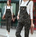 2016 New Brand Camouflage Overalls For Women Autumn Winter One Piece Long Jumpsuit Romper Skinny Slim Camo Jumpsuits