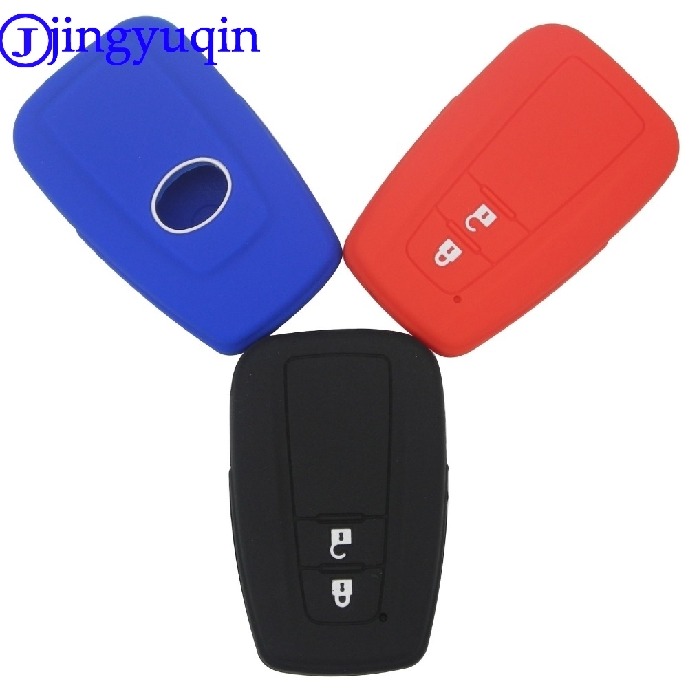 jingyuqin Remote Silicone Car Key Fob Cover Case Shell Skin Holder Protect For Toyota CHR C-HR 2017 Prius 2 Buttons Accessories cactus cs ept0925