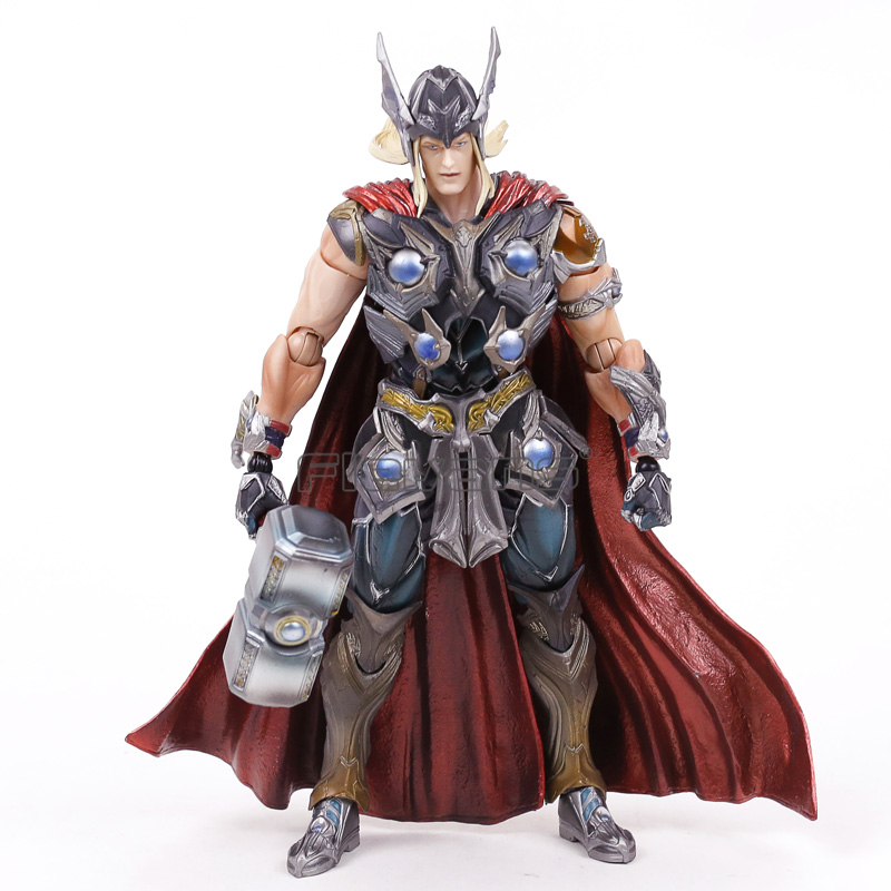 Play Arts KAI Marvel Thor Super Hero PVC Action Figure Collectible Model Toy fire toy marvel deadpool pvc action figure collectible model toy 10 27cm mvfg363