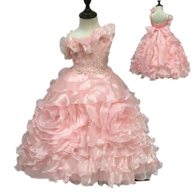 Fábrica envío libre longitud del tobillo vestido de fiesta niño bola ...