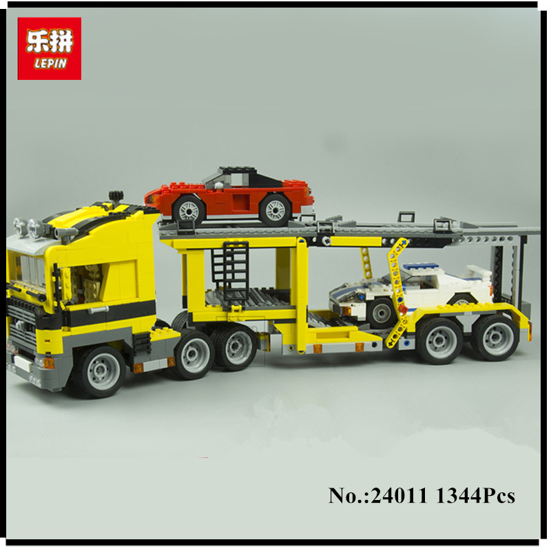 IN STOCK Lepin 24011 Series 1344Pcs The Three in One Highway Transport Set Educational Building Blocks Brick Toy Model Gift 6753 a toy a dream lepin 24027 city series 3 in 1 building series american style house villa building blocks 4956 brick toys