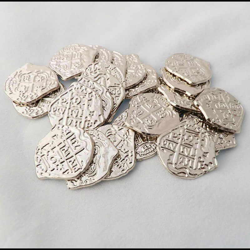 Pirata tesoro europeo España doblón Moneda de Oro diferencia colores monedas de juguete para elegir 1 unids/lote