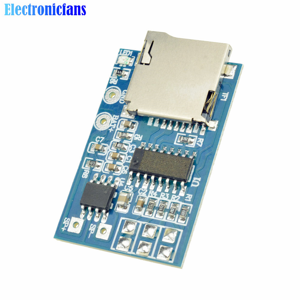 Electronic Components & Supplies Active Components Sweet-Tempered Gpd2846a Tf Card Mp3 Decoder Board 2w Amplifier Module