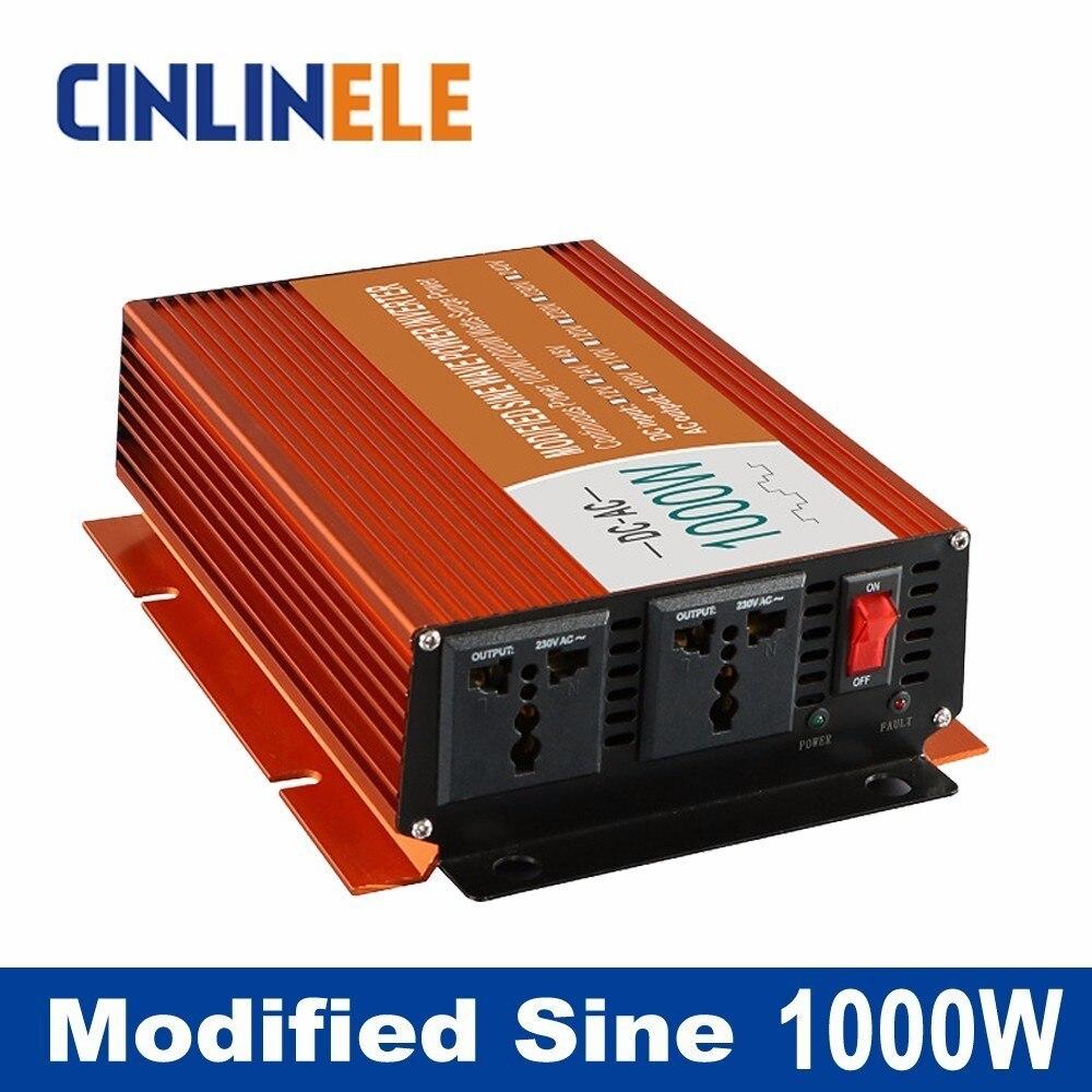 Modified Sine Wave Inverter 1000W CLM1000A DC 12V 24V 48V to AC 110V 220V 1000W Surge Power 2000W Power Inverter Bright  цены