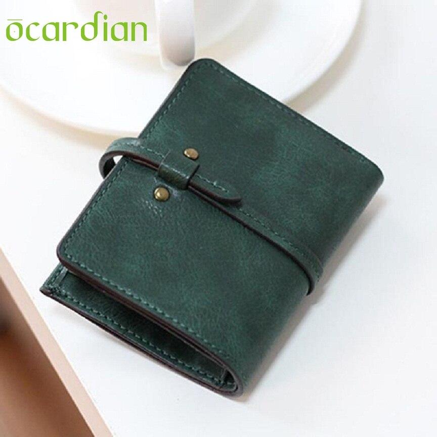 OCARDIAN New Fashion Women Ultrathin Bifold PU Leather Wallet Mini Card Purse Monedero 11S60929 Mar 21