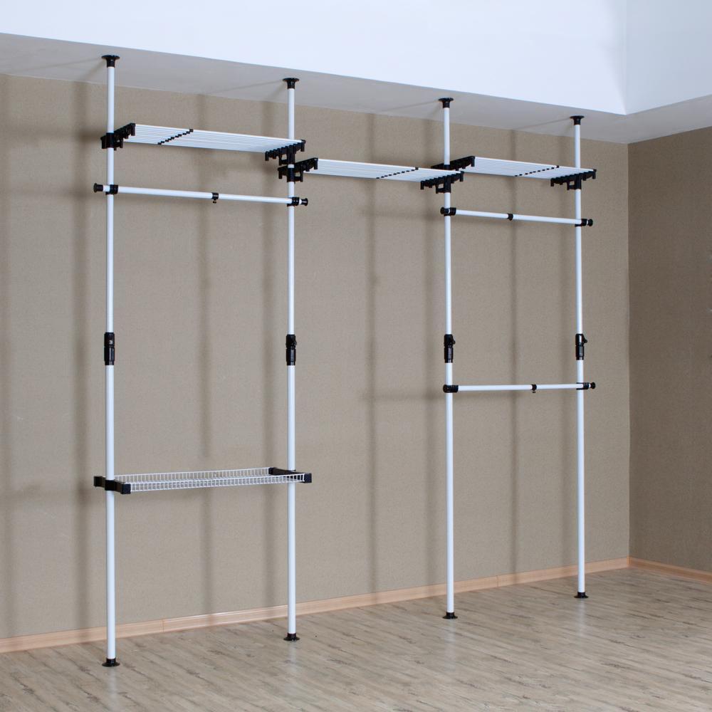 Perakitan Diy Sederhana Lemari Pakaian Lantai Steel Rak Mantel Untuk Menghemat Ruang Menggantung 439 Di Dari Furniture