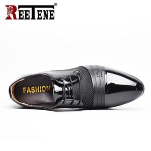 Image 3 - REETENE MenS Dress Shoes Fashion Pu Leather Shoes Men Brands Wedding Oxford Shoes for MenS Breathable Men Formal Footwear