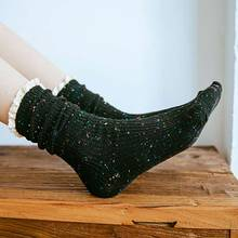1 Pair /Lot New Fashion Ladies Socks Lace Side Sexy Casual Warm Women Cotton Female Solid Color Sock Calcetines