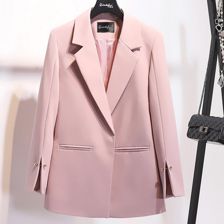 2018 automne nouvelle mode crantée col Spilt manches perles décoration poche bureau dames femmes Blazer grande taille 2XL