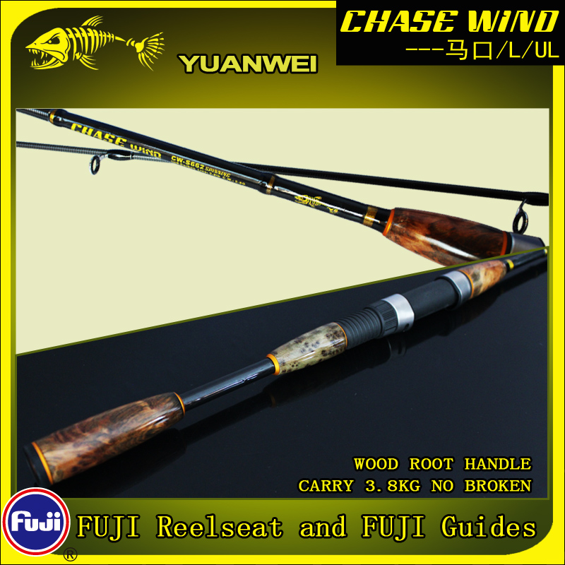 Yuanwei Lure Rod 1.8m Carbon UL 2Section Vara De Pesca Carpe Pole Canne Canne Një Peche Spinning Rod Peshkimi