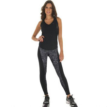 Lady Sports cotton Legging Gym Elastic high waist slim black gray Splice Wear on both sides Europe US spring autumn Ankle-Length