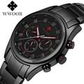 Brand Day Date 24 Hours Waterproof Men Sports Quartz Watch Male Black Steel Strap Military Wrist Watch With Japan Y121 Movement
