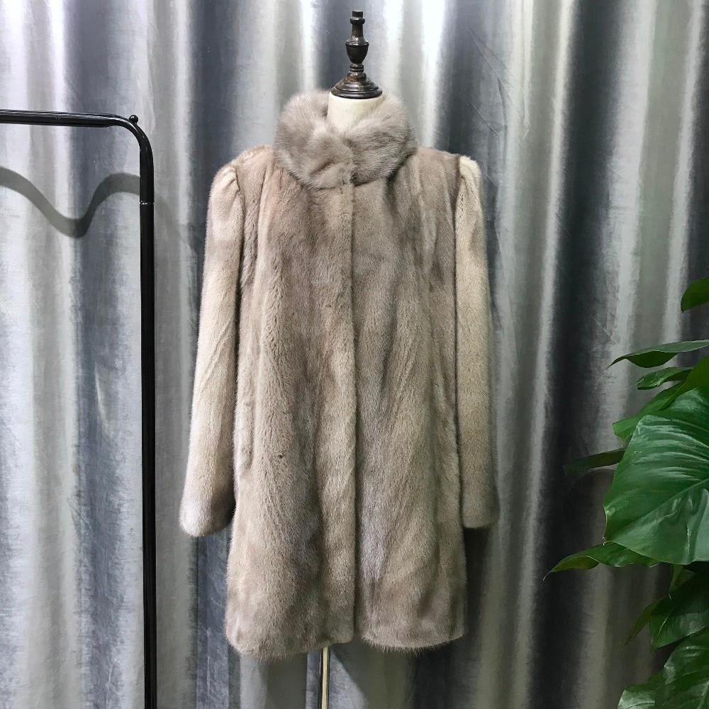 Manteaux Col De Promotion Trendy Vestes Doux Gros 2018 Grey white Fourrure Réel Nature Femmes Montant Iron En Pour Femelle Mince black Vison Particulier UI8ww5q