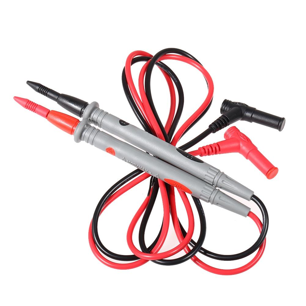 цены 1 Pair Probe Test Leads Pin Digital Oscilloscope Multimeter Test Leads for Current Voltage Meter 20A 1000V Needle Tip