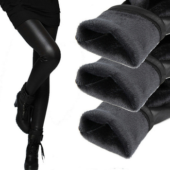 New 2015 Thickening Fleece Bottoms Women Pants Skinny Pencil Pants Winter Warm Trousers for Women Pants & Capris Leggings G1317