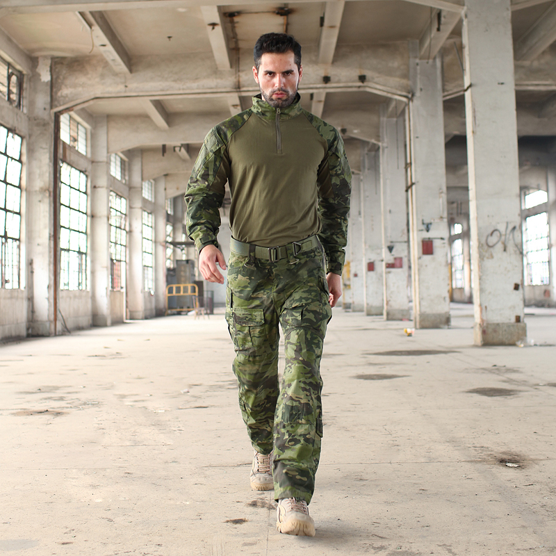 2017 Multicam Camouflage Multicam Tropic Frog Suits MTP Trainning G3 Uniforms Include One 1/4 Zip Shirt & One Tactical Pants