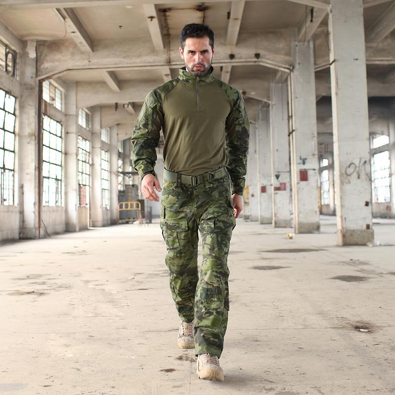 2017 Multicam Camouflage Multicam tropique grenouille costumes MTP entraînement G3 uniformes comprennent une chemise à glissière 1/4 et un pantalon tactique