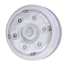 Wireless Infrared 6 LED Bulbs Nightlight PIR AUTO Sensor Motion Detecting Light Home Door Brightness Adjustable