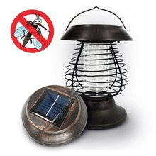 Solar Powered Lantern Lamp with Kill Mosquito Bug Zapper Function 2 in 1 Solar LED Lights