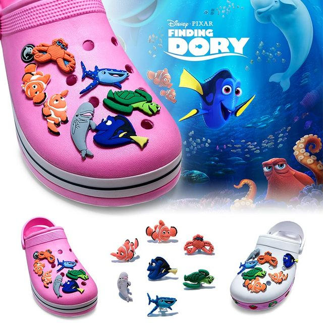 07ec0c2e9031 New Cute 1pcs Finding Dory PVC Shoe Charms