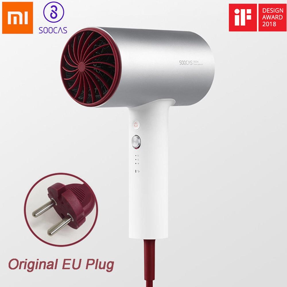 Xiaomi SOOCAS H3 H3S secador de pelo profesional iones negativos y de secado rápido de cuidado del cabello 1800 W de salida de aire Anti -caliente innovadoras