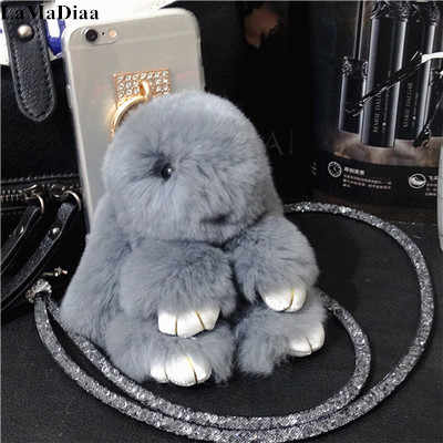 Luxury Lovely Hairy Rabbit Fluffy Fur Phone Cases For Xiaomi 9 8 SE 5 5s Plus 5X 6 For Redmi 7 6A Note7 6 Pro 4 4X 5A Back Cover
