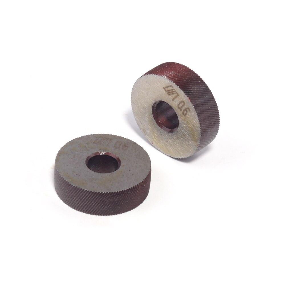 2pcs Knurling Tool Silver Single Straight Wheel Linear Knurl Tool 0.6mm Pitch