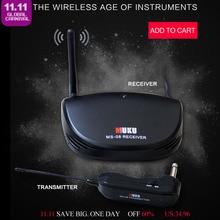 Aroma ARU-02 Transmisión inalámbrica de audio para todos los tipos de guitarra y bajos Accesorios para guitarra Transmisor conector de calibre 6.35mm