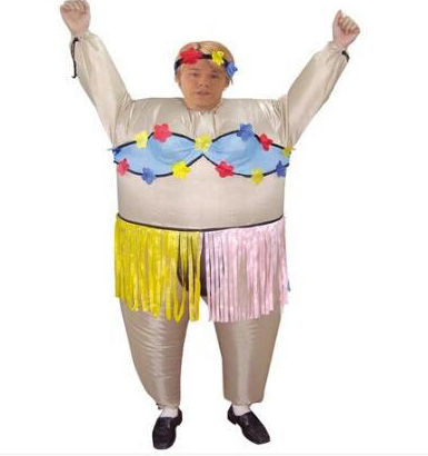 adult club inflatable hawaiian dance costume funny halloween party game sexy hula hula costume cosplay - Halloween Costumes Prices