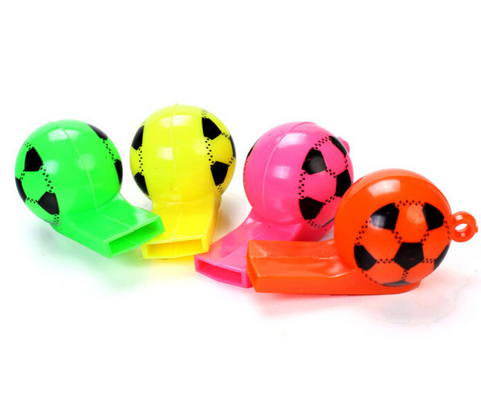 Plastic strap football referee whistle whistle soccer World Cup cheer props toys