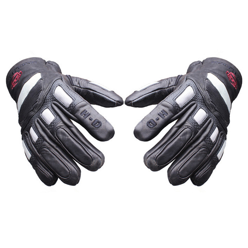 Men Waterproof Carbon Fiber Genuine Leather Motorcycle Gloves Outdoor Motocross Racing Gloves Motorbike Cycling off road