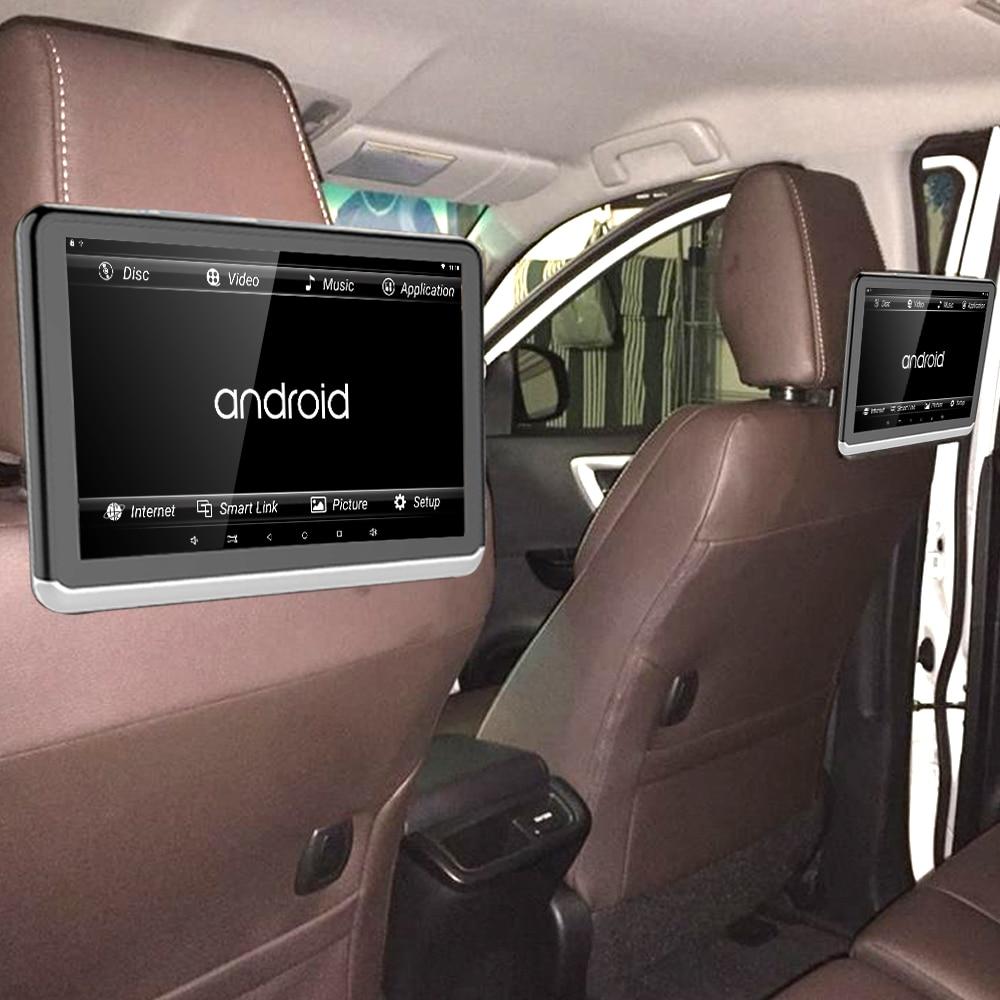 Android 6.01 Voiture Appui-Tête Moniteur 2 PCS 1366*768 1080 HD avec Écran Tactile WIFI Bluetooth USB SD Carte sans Lecteur DVD