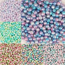 4mm 6mm 8mm 10mm ABS Imitation Pearl Beads for Jewelry Making Set Bead Beads Round Beads For DIY Craft Loose 100pcs(China)