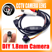 DIY CCTV Camera 1.8mm 170 Degrees wide angle lens Camera CMOS CCTV Camera Free Shipping