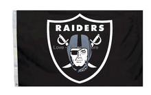 Oakland Raiders Flag 3 x 5 FT Banner 100 d Polyester NFL Flag 150-90 cm free shipping