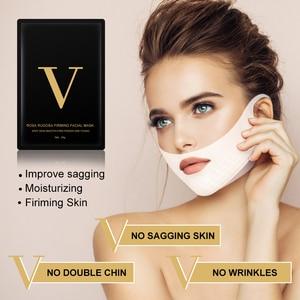 Image 3 - V קו מסכת 4d פנים הרמת מסכת נס V בצורת הרזיה מסכת סנטר כפול מפחית מעלית תיקון צורת V פנים מיצוק כלי