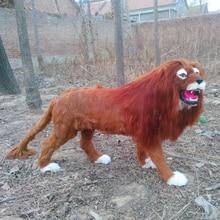 Simulation lion polyethylene&furs lion model funny gift about 110cmx70cm