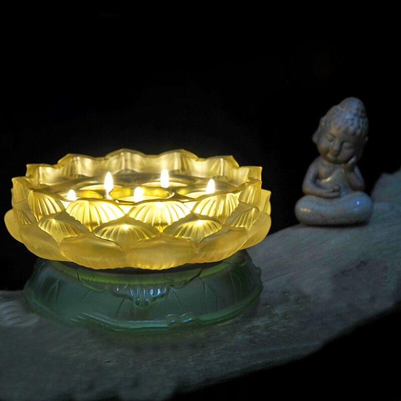 nueva agua de la llegada esmalte coloreado candelabros agua material de piedra azul con