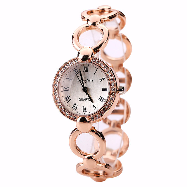 LVPAI New Brand Women Crystal Dress Watch Bracelet Watch Luxury Casual Women Fas