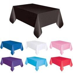 1PC 137*183cm Kunststoff Einweg Tischdecke Einfarbig Hochzeit Geburtstag Party Tisch Abdeckung Rechteck Schreibtisch Tuch Wischen deckt verkauf