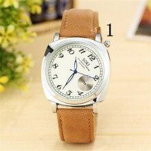 1New Moda 1 Concisa Negócio Luxo Casual relógio de Pulso de Aço Inoxidável Relógio Mecânico
