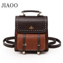 women backpack High quality PU leather school bags for teenage girls small fashion vintage mochila